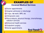 examples of covered medical services