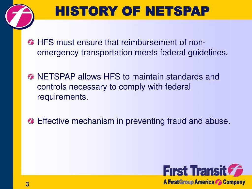 HISTORY OF NETSPAP