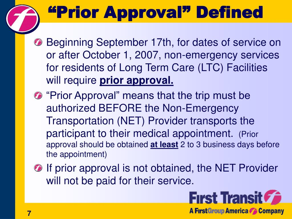 """""""Prior Approval"""" Defined"""