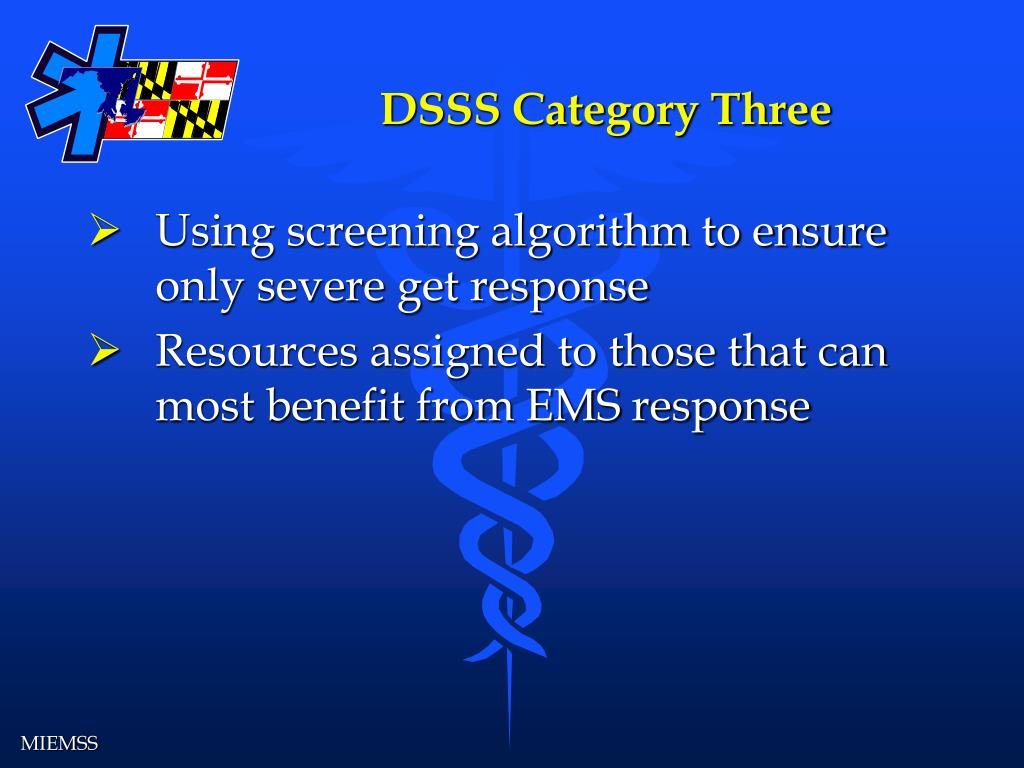 DSSS Category Three