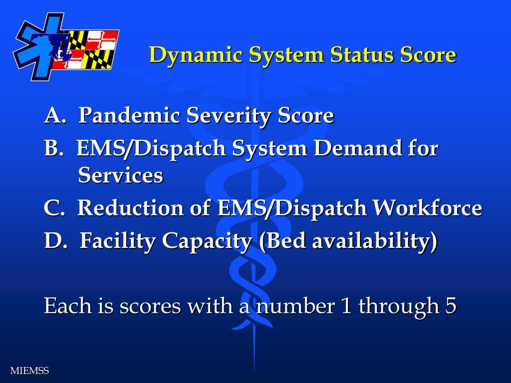 Dynamic System Status Score