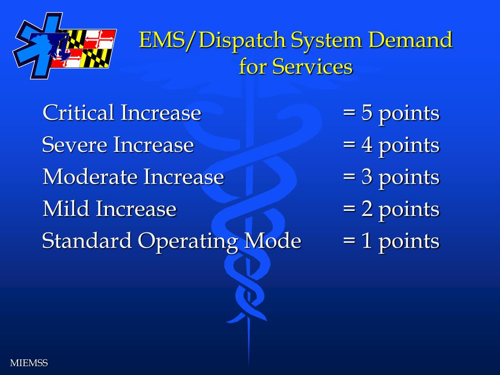 EMS/Dispatch System Demand for Services