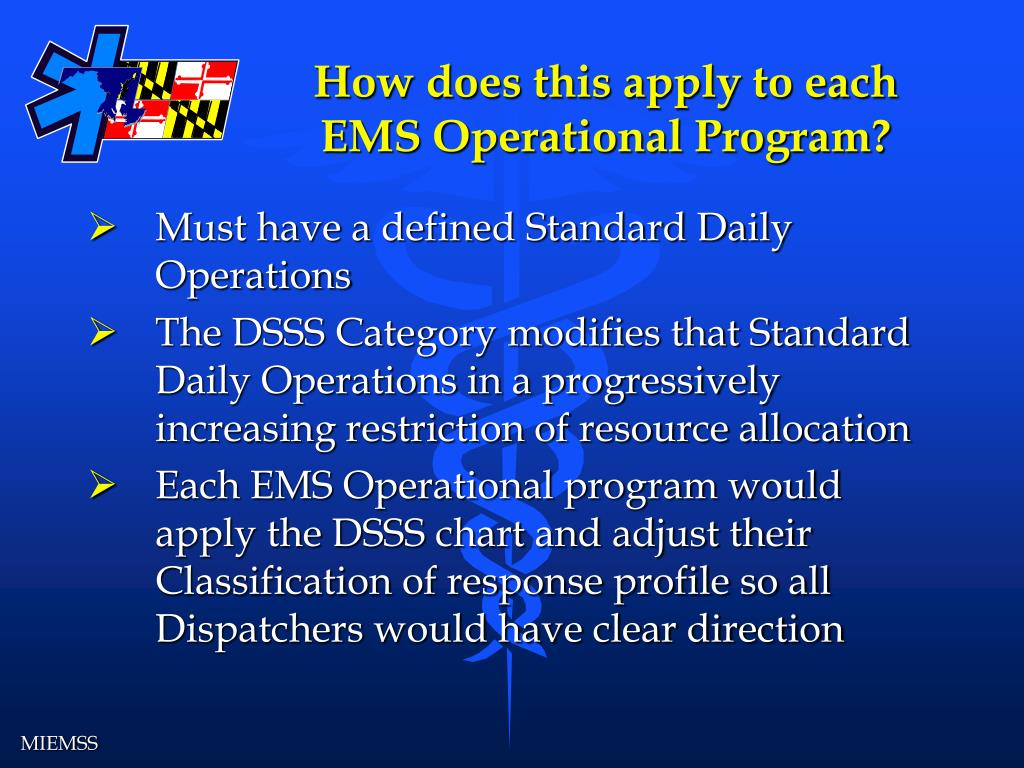 How does this apply to each EMS Operational Program?