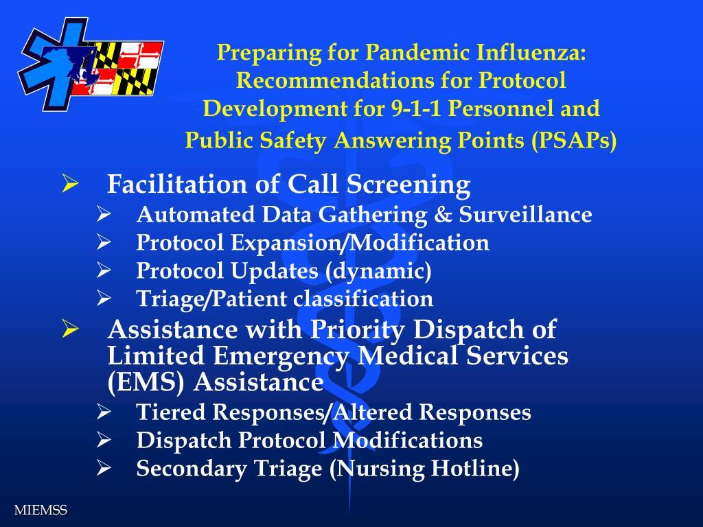 Preparing for Pandemic Influenza:
