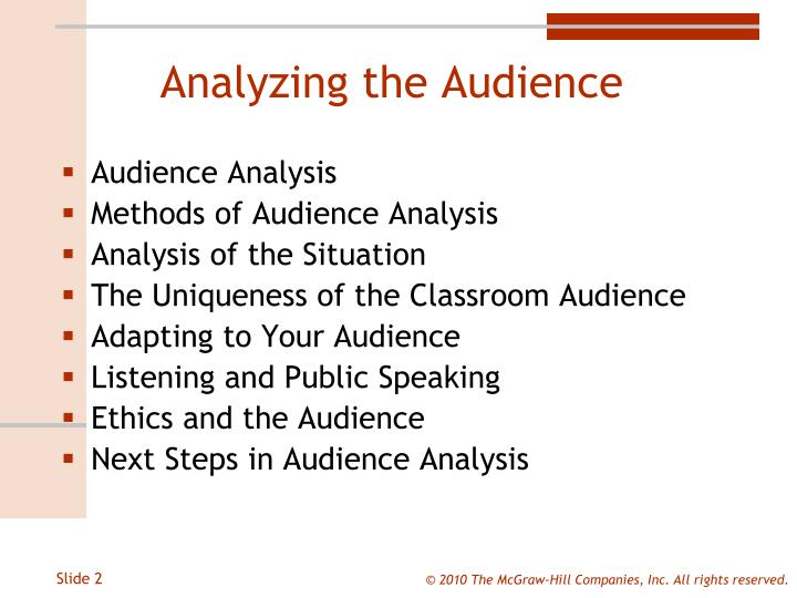 Analyzing the Audience