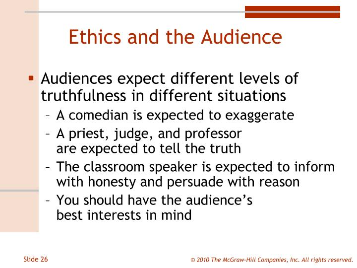 Ethics and the Audience