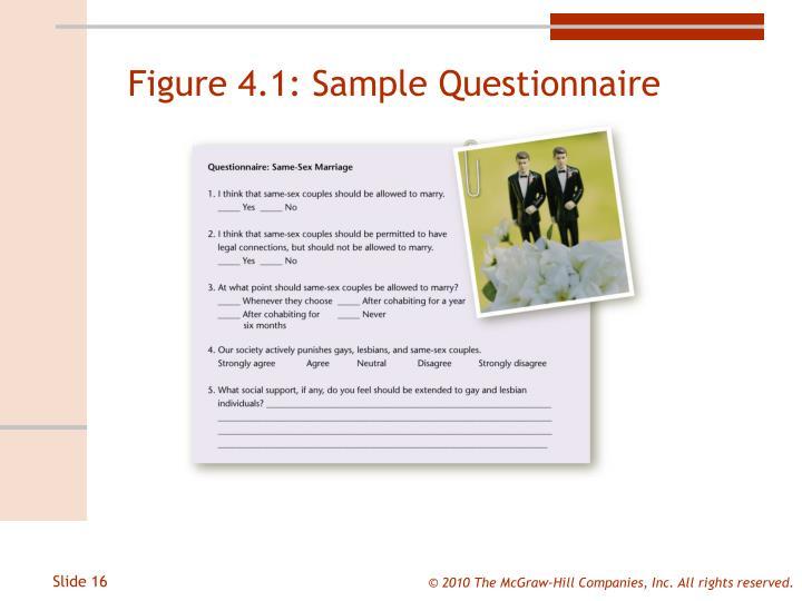 Figure 4.1: Sample Questionnaire