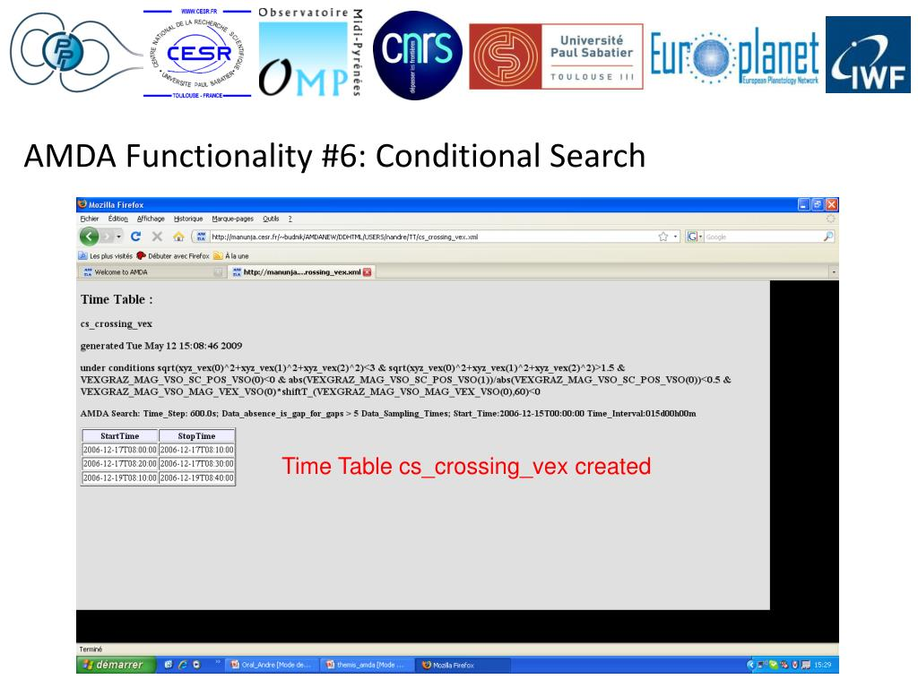 AMDA Functionality #6: Conditional Search