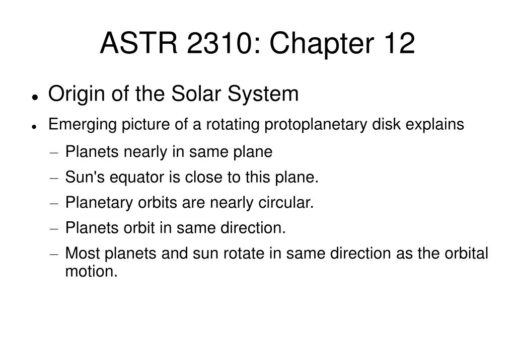 ASTR 2310: Chapter 12