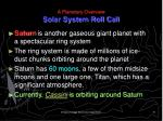 a planetary overview solar system roll call10