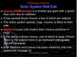 a planetary overview solar system roll call11