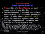 a planetary overview solar system roll call12