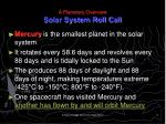 a planetary overview solar system roll call5