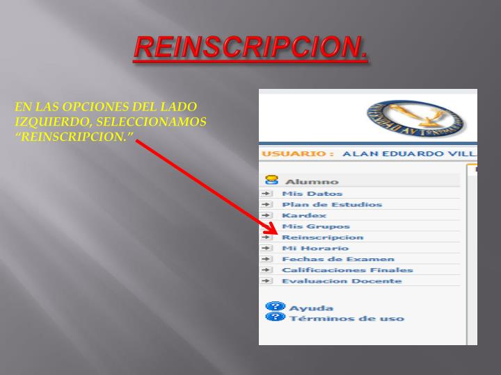 REINSCRIPCION.