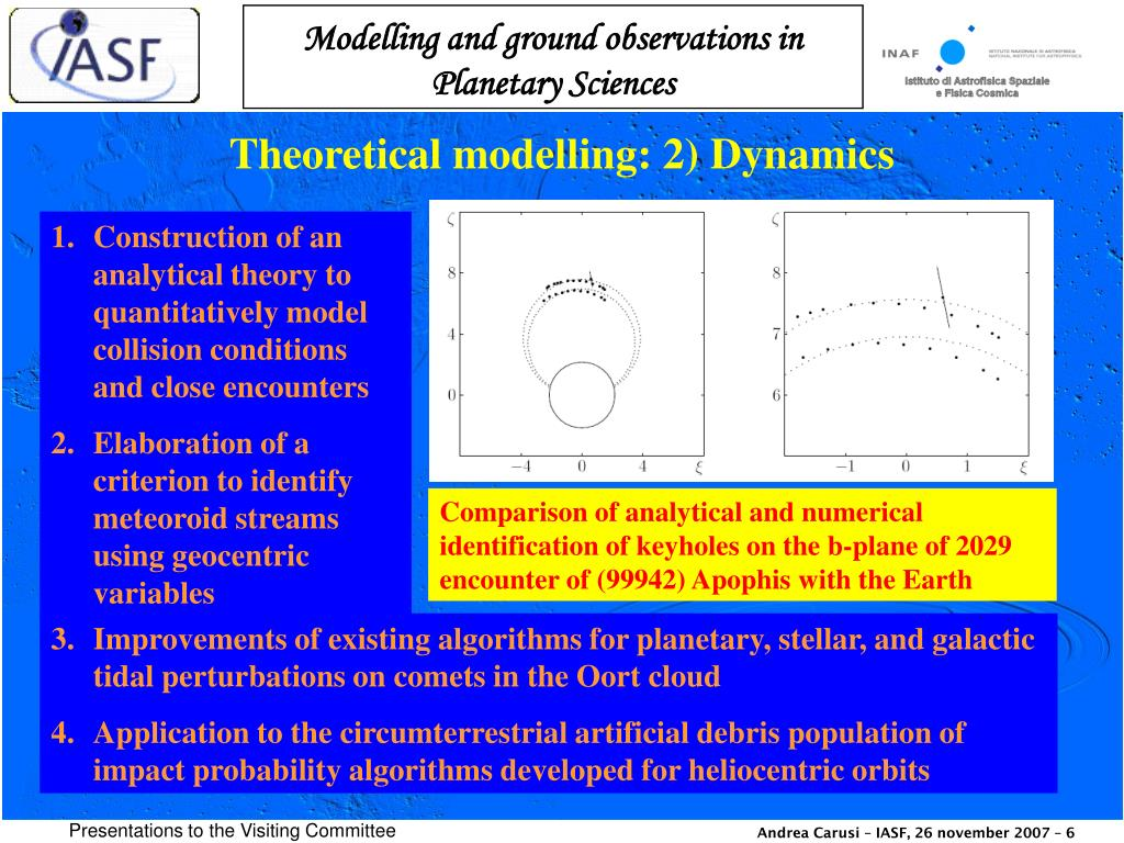 Theoretical modelling: 2) Dynamics