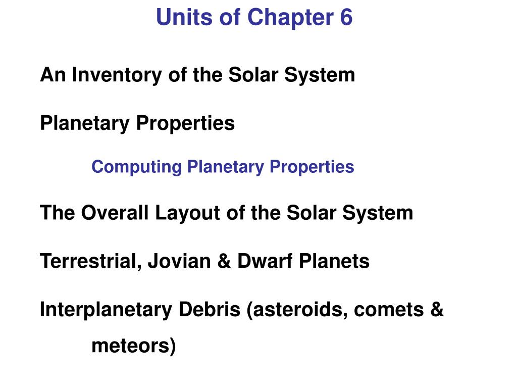 Units of Chapter 6