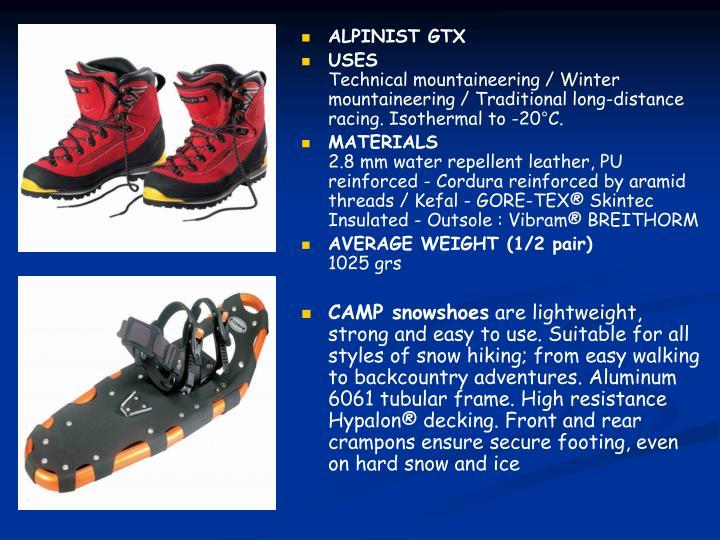 ALPINIST GTX
