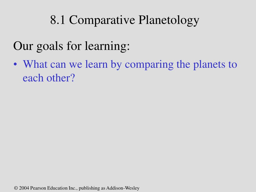 8.1 Comparative Planetology