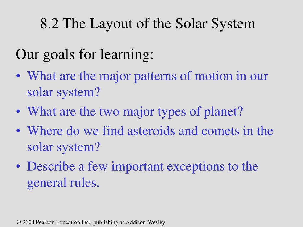 8.2 The Layout of the Solar System