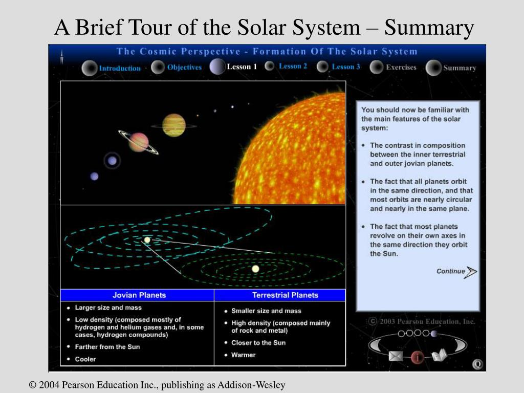 A Brief Tour of the Solar System – Summary