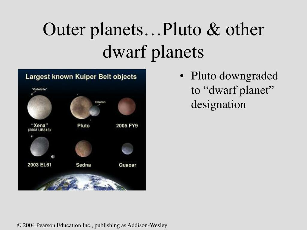 Outer planets…Pluto & other dwarf planets