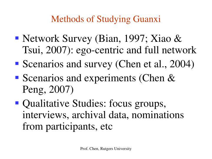 Methods of Studying Guanxi