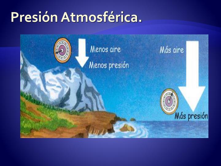 Presión Atmosférica.