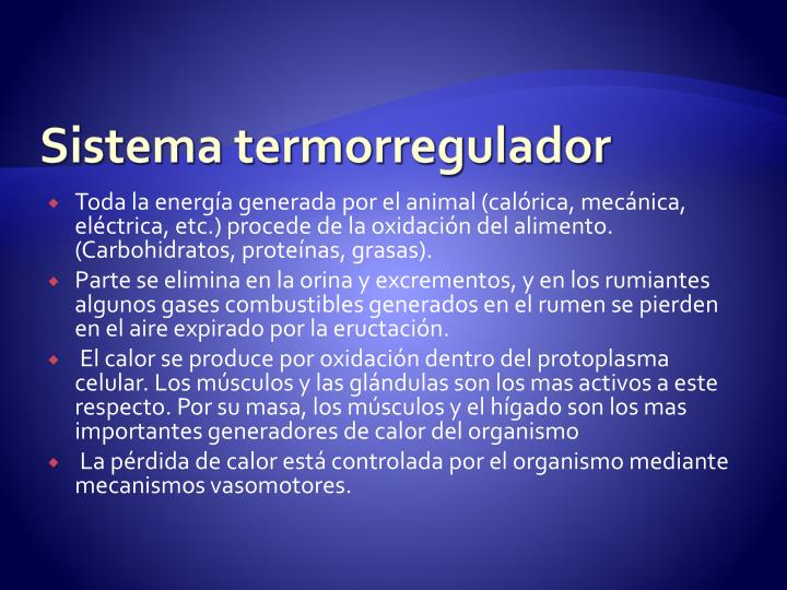 Sistema termorregulador