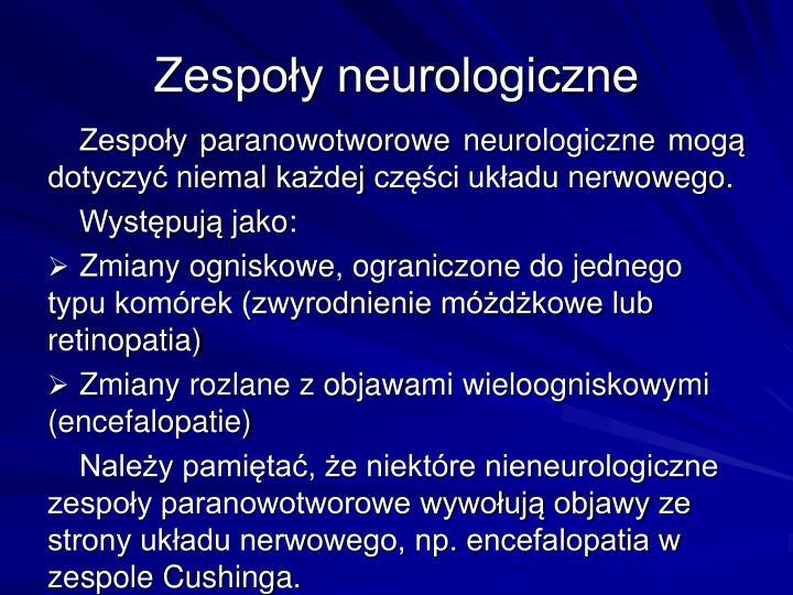 Zespoy neurologiczne
