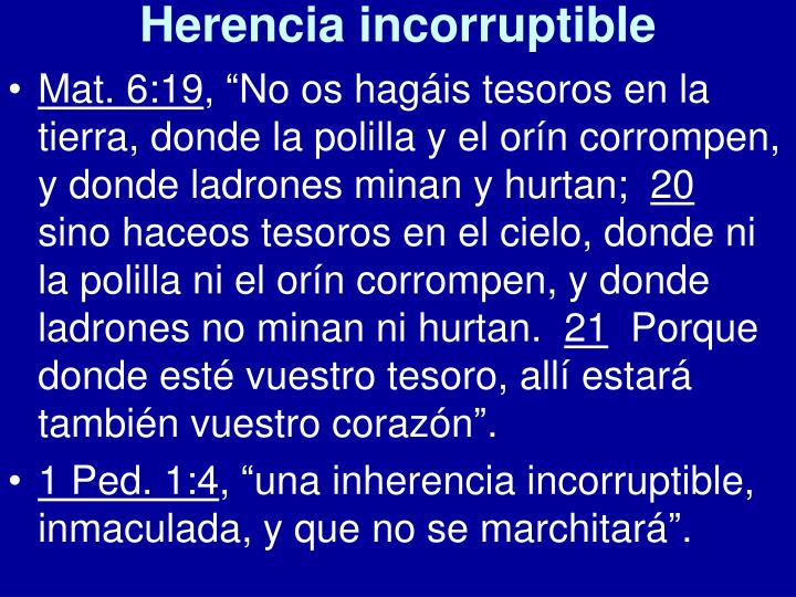 Herencia incorruptible