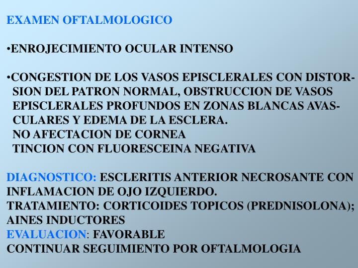 EXAMEN OFTALMOLOGICO