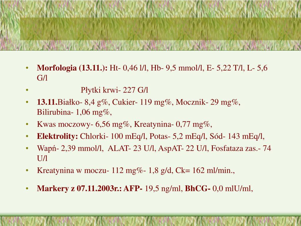 Morfologia (13.11.):