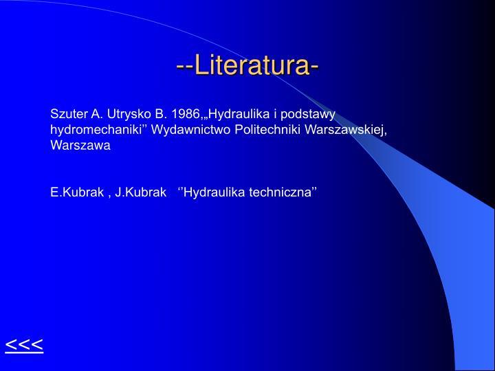 --Literatura-