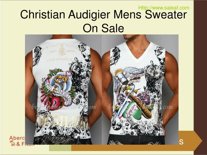 Christian audigier mens sweater on sale