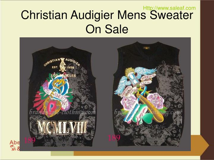 Christian audigier mens sweater on sale2