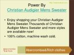 power by christian audigier mens sweater