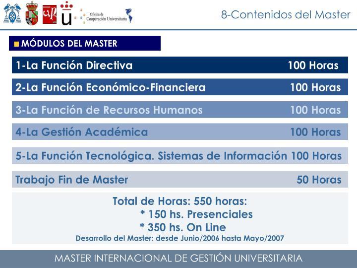 8-Contenidos del Master