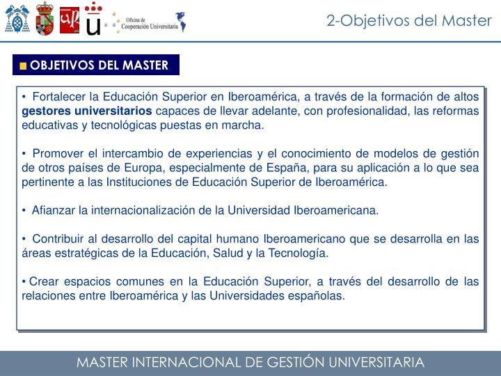 2-Objetivos del Master