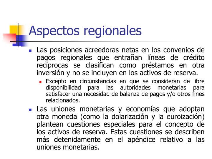 Aspectos regionales