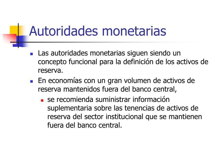 Autoridades monetarias