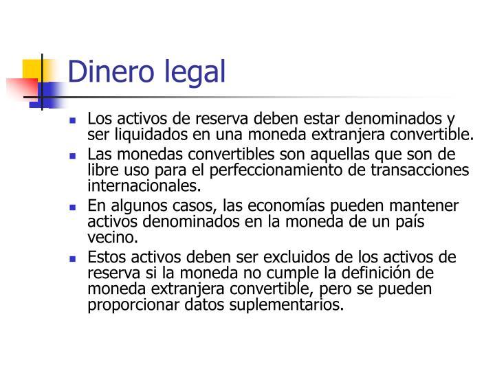 Dinero legal