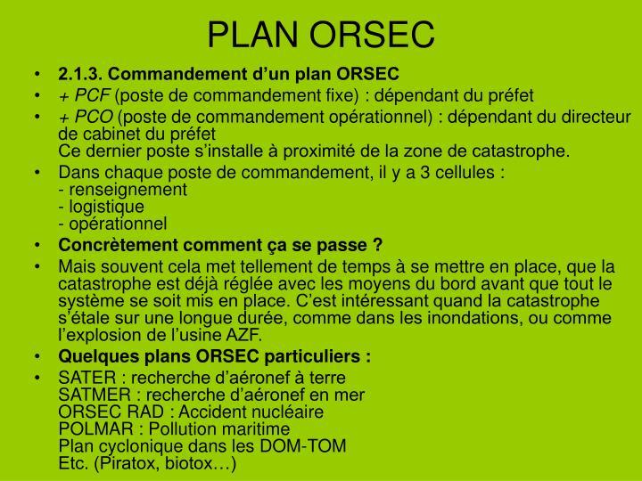 PLAN ORSEC