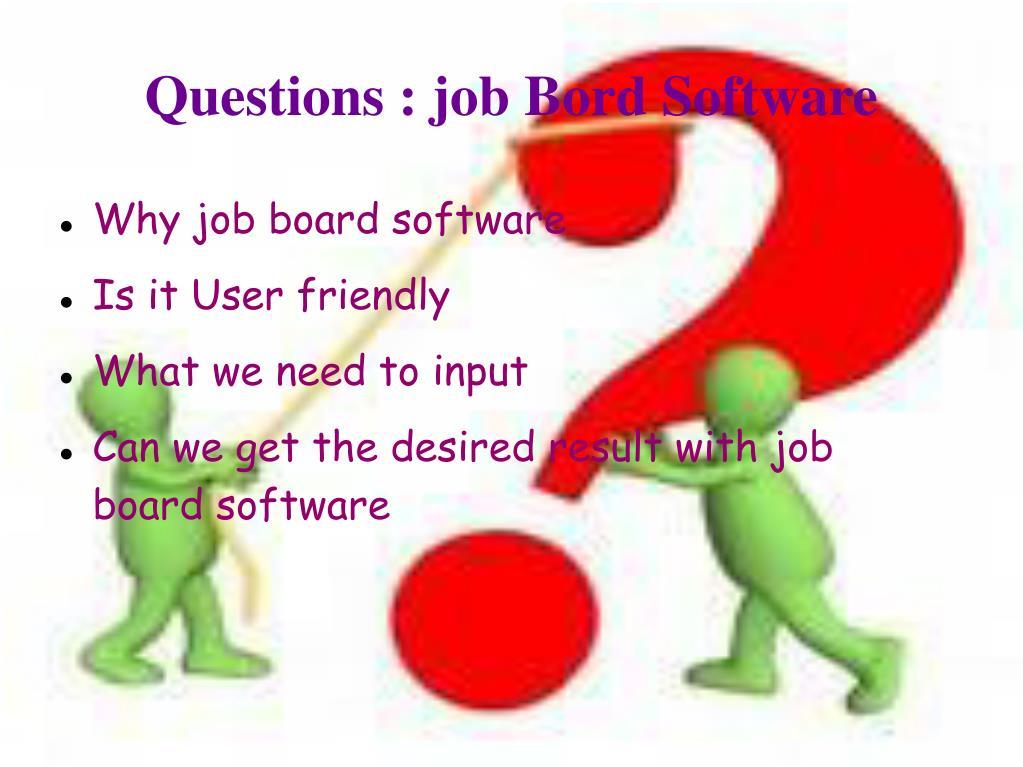 Questions : job Bord Software