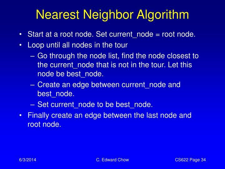 Nearest Neighbor Algorithm