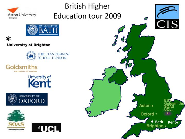 British Higher Education tour 2009