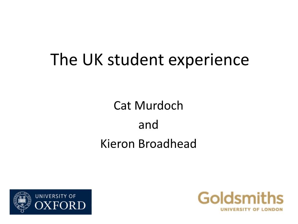 The UK student experience