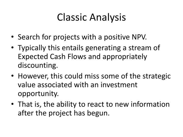 Classic Analysis