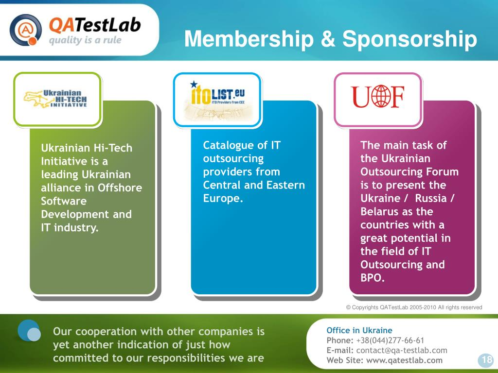 Membership & Sponsorship