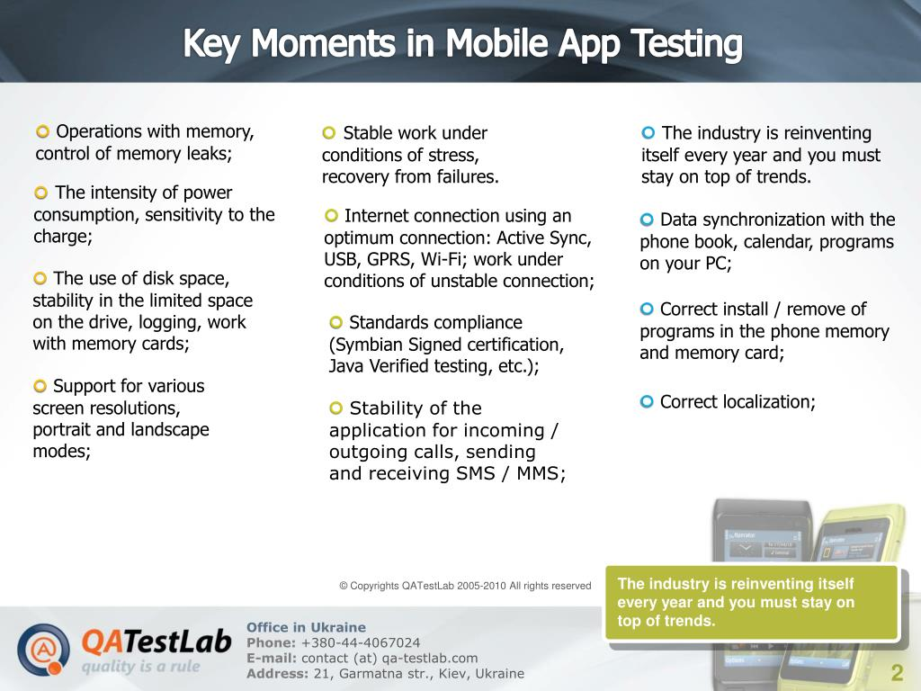 Key Moments in Mobile App Testing