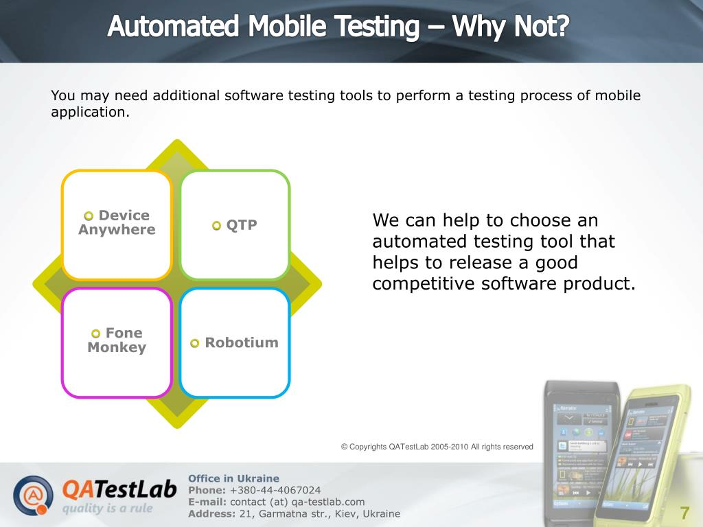 Automated Mobile Testing – Why Not?